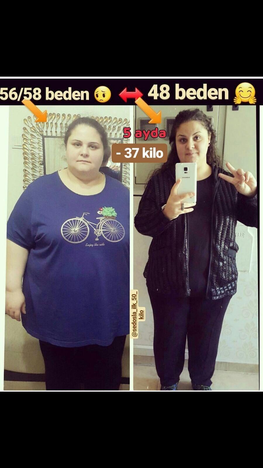 4 ayda giden -40 kilo